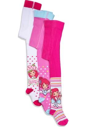 Çilek Kız 3'lü Çocuk Külotlu Çorap 4955