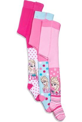 Disney Frozen 3'lü Çocuk Havlu Külotlu Çorap 10285