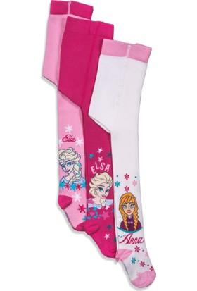 Disney Frozen 3'lü Çocuk Külotlu Çorap 12450