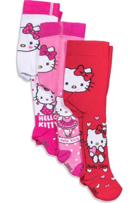 Hello Kitty 3'lü Bebek Külotlu Çorap 5007