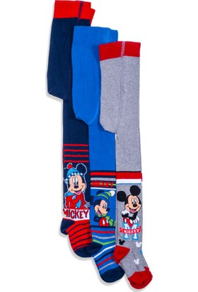 Disney Mickey Mouse 3'lü Çocuk Külotlu Çorap 9494