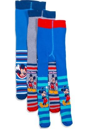 Disney Mickey Mouse 3'lü Bebek Havlu Külotlu Çorap 9590