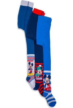 Disney Mickey Mouse 3'lü Çocuk Havlu Külotlu Çorap 10283