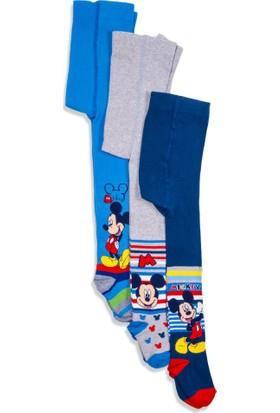 Disney Mickey Mouse 3'lü Çocuk Külotlu Çorap 12458