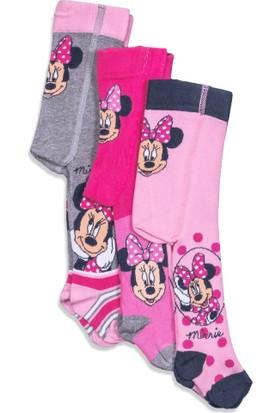 Disney Minnie Mouse 3'lü Bebek Külotlu Çorap 5097
