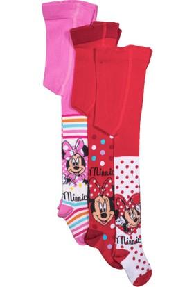 Disney Minnie Mouse 3'lü Çocuk Külotlu Çorap 9594