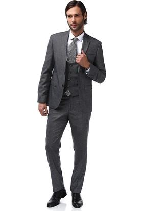 Centone Yelekli Dar Takım Elbise 17-0363