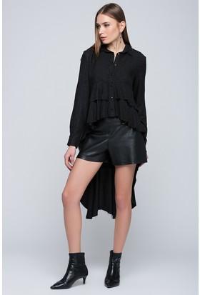 Moda Shop Kadın Siyah Gömlek Elbise