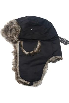 Modamarka Shop Unisex Kürklü Siyah Kışlık 10C Şapka