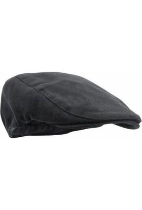 Modamarka Shop Erkek Şapka Kışlık Flat Cap Yün Kasket Siyah
