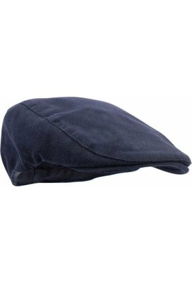 Modamarka Shop Erkek Şapka Kışlık Flat Cap Yün Kasket Lacivert