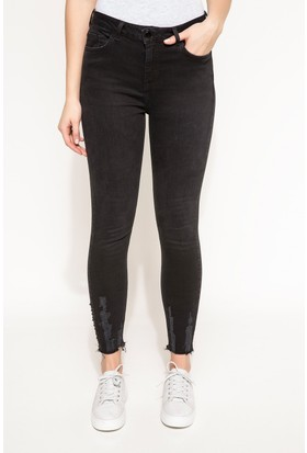 DeFacto Kadın Denim Pantolon Siyah