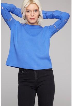FullaModa Kol Detaylı Bluz 18KD&K0019