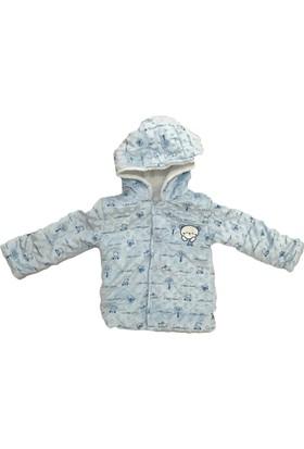 Buude Erkek Çocuk Kışlık Mont Kapşonlu Mavi Buude 6537