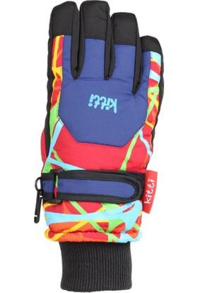 Kitti Erkek Çocuk Kar Eldiveni Kayak 4-8 Yaş Kırmızı K421-5