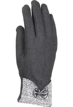 Suyutti Bayan Eldiven Keçe Dokunmatik Parmak Siyah K7230