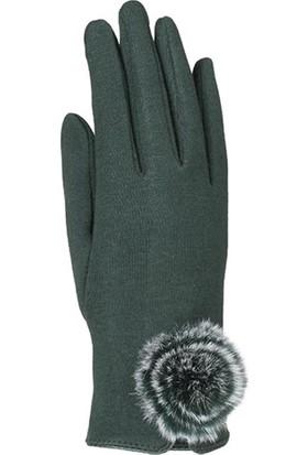 Suyutti Bayan Eldiven Kışlık Dokunmatik Parmak Koyu Yeşil K7264