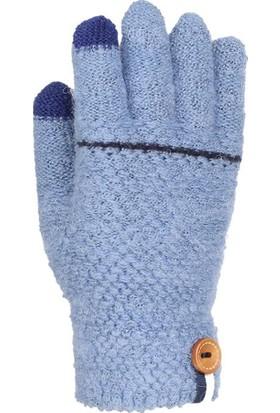Kitti Erkek Çocuk Kışlık Eldiven Örme 4-8 Yaş Kalın Örgü Mavi K7320-10