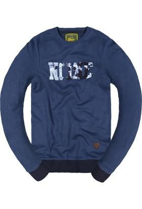 Phazz Brand Baskılı Sweatshirt 5298 İndigo