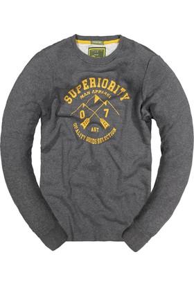 Phazz Brand Baskılı Sweatshirt 5293 Antrasit