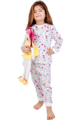 Bhr Kids Kız Çocuk Pijama Takımı Kalpli 1 - 4 Yaş