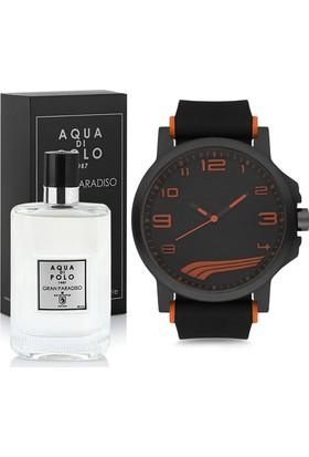 Aqua Di Polo 1987 Gran Paradiso Erkek Parfüm Ve Kol Saati Seti Peapl27B120904