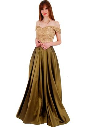 Adressim Balerin Yaka Uzun Abiye Elbise