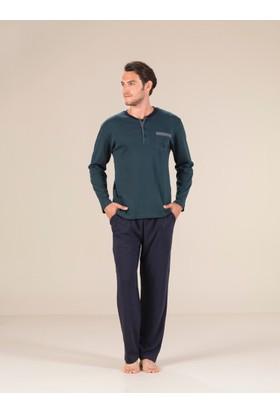 Estiva 17408 İnterlok Patlı Erkek Pijama Takım