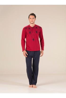 Estiva 17407 İnterlok Patlı Erkek Pijama Takım