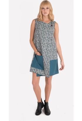 Clandestino Desenli Kolsuz Elbise