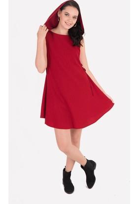 Clandestino Kolsuz Kapüşonlu Elbise