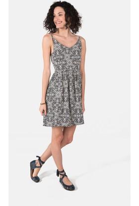 Clandestino Desenli Elbise