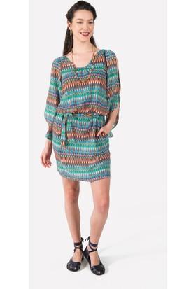 Clandestino Uzun Kollu Elbise