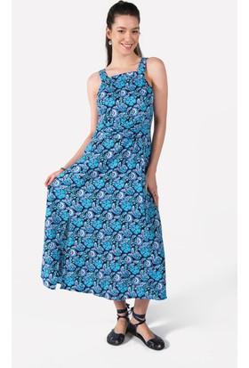 Clandestino Çiçekli Uzun Elbise