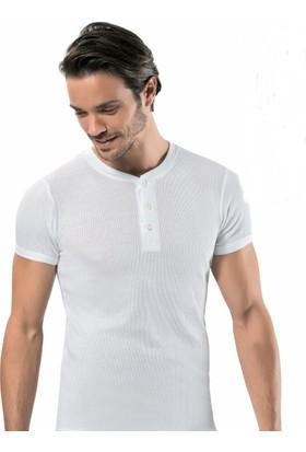 Erdem 3'lü paket 1125 Fitilli Düğmeli Erkek Tshirt Fanila