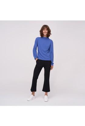 Ribellion Yüksek Yakalı Kolları Detaylı Sweatshirt