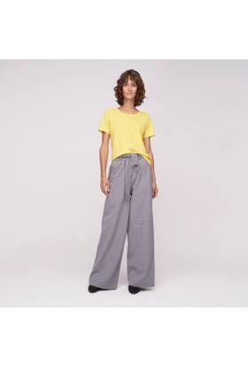 Ribellion Beli Kemerli Geniş Kesim Pantolon