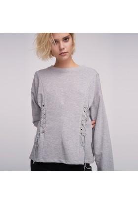 Ribellion Kuşgözü Bağcık Detaylı Sweatshirt