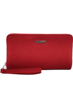 Ollbag 1018 Kırmızı Deri Kadın Cüzdanı