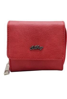 Ollbag 1025 Kırmızı Deri Kadın Cüzdanı