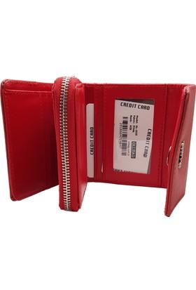 de71f958a93e0 ... Ollbag 1025 Kırmızı Deri Kadın Cüzdanı