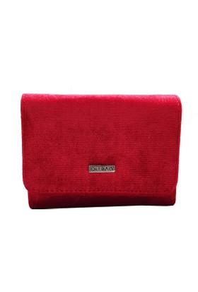 Ollbag 1026 Kadife Kırmızı Deri Kadın Cüzdanı