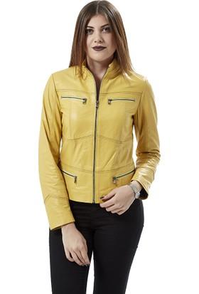 Deriza Eva Sarı Spor Ceket