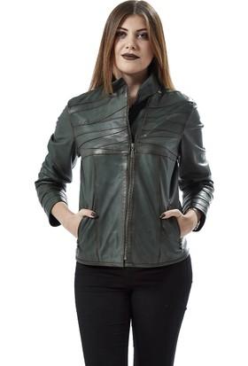 Deriza Parace Bayan Deri Ceket