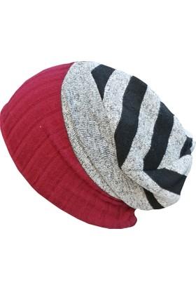 Babygiz Çizgi Desenli Triko Şapka Ns00128