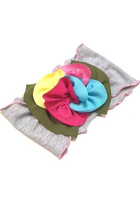 Babygiz Çiçek Aksesuarlı Bandana Nba033