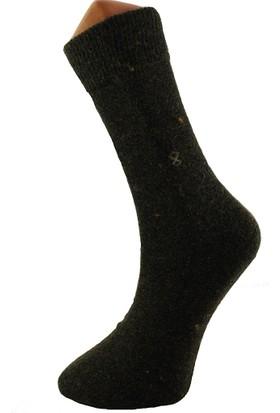 Srn Doğal Dikişsiz Erkek Çorap 2 Adet Kahverengi