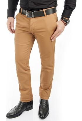Deepsea Hardal Sarısı İtalyan Kesim Likralı Kalın Erkek Spor Pantolon 1602140-026