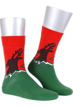Buddypa Geyik Desenli Çorap