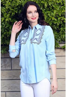 Womenice Kilim Desen Gömlek
